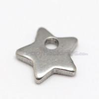 Colgante acero inoxidable estrellita 6x6 mm. Anilla 1 mm (10 uds