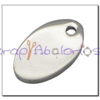 Colgante acero inoxidable chapa oval 13x7x1 mm Anilla 1 mm