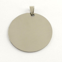 Colgante acero inoxidable moneda grande 42x42x1 mm