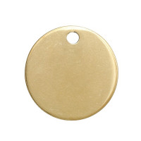 Moneda chapita de acero DORADO lisa, ideal grabar 15  mm