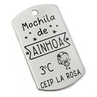 Colgante ACERO INOX - MOCHILA DE... (AC048)
