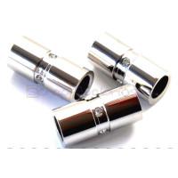 Tubo de acero inoxidable,25x12 mm. Taladro 8 mm