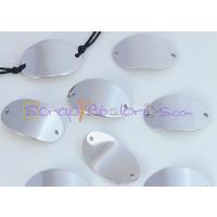 Entrepieza conector oval acero inoxidable 23x14x1.Taladro 1.5 mm