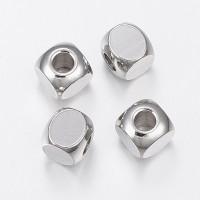 Cubo de acero inoxidable 6x6x6 mm. Taladro 3 mm.