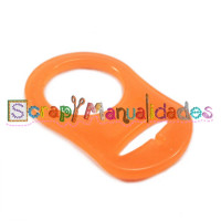 Anilla flexible para chupetero 47x32 mm , NARAN FLU TRANSPARENTE