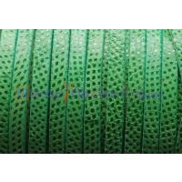 Cuero plano ante luxus moteado serpien 6 mm verde (20 cm)