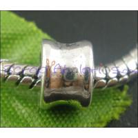 Entrepieza tubo liso plata tibetana estilo europeo 8x6 mm.Tal 5