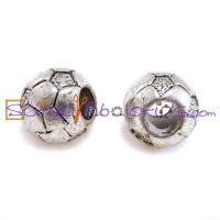 Balon de futbol 10x10 mm, taladro 5 mm