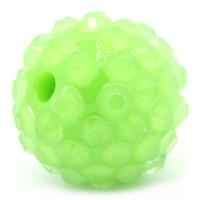 Bola acrilica rhinestones iridiscente 16 mm, verde