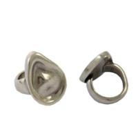 Base anillo ZAMAK baño plata gota resina tacha 34x16 mm