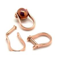 Base anillo ZAMAK ORO ROSA con un pivote  22x32 mm