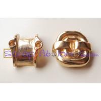 Base anillo ZAMAK dorado para cuero plano 10 mm - Mod Espiral