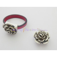 Base anillo Zamak rosa 18 mm. Int 6x2 mm
