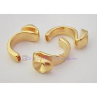 Base medio anillo Zamak dorado para Xilion chaton 1028 SS39