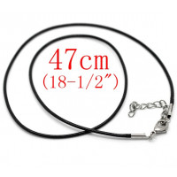 Cordon base collar algodon color negro 1.5 mm grosor cadenita