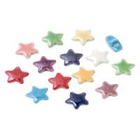 Estrella de ceramica 15x15  mm, taladro 2.7 mm ( 10 uds mix)