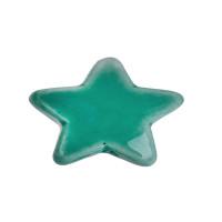 Estrella de ceramica 15x15  mm, taladro 2.7 mm - Color aquamarin