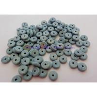 Donut de ceramica 6.5x2.2 mm,azul nube, talad 1.2 mm 10 uds