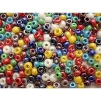 Lote de rondel  cristal checo 8-9 m, taladro 3 mm ( 20 uds mix)