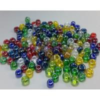 Lote de rondel  cristal checo 6 mm, taladro 2 mm ( 10 g mix)