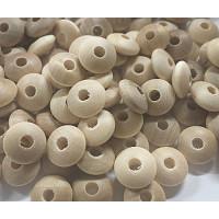 Bolsita 20 lentejas de madera 10x5 mm antibaba - Sin Lacar 00