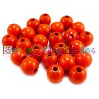 Bolita de madera antibaba 10 mm Color Naranja