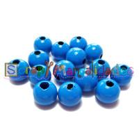 Bolita de madera antibaba 10 mm Color Azul Medio