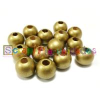 Bolita de madera antibaba 10 mm Color Dorado