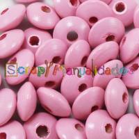 Lenteja de madera 10x5 mm antibaba -Color Rosa Claro