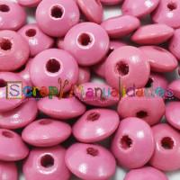 Lenteja de madera 10x5 mm antibaba -Color Rosa