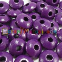 Lenteja de madera 10x5 mm antibaba -Color Purpura