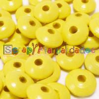 Lenteja de madera 10x5 mm antibaba -Color Amarillo Pastel