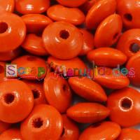 Lenteja de madera 10x5 mm antibaba -Color Naranja