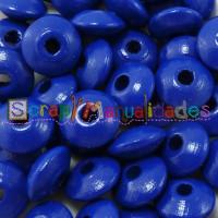 Lenteja de madera 10x5 mm antibaba -Color Azul Marino