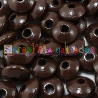 Lenteja de madera 10x5 mm antibaba -Color Marron
