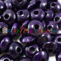 Lenteja de madera 10x5 mm antibaba -Color Violeta Oscuro