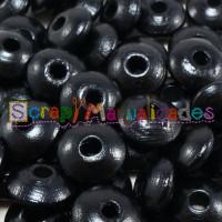 Lenteja de madera 10x5 mm antibaba -Color Negro