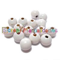 Bolita de madera antibaba 12 mm Color Blanco