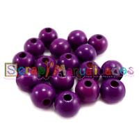 Bolita de madera antibaba 12 mm Color Purpura