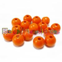 Bolita de madera antibaba 12 mm Color Mandarina