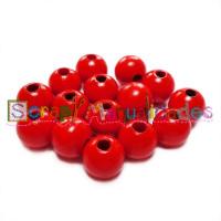 Bolita de madera antibaba 12 mm Color Rojo