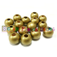 Bolita de madera antibaba 12 mm Color Dorado