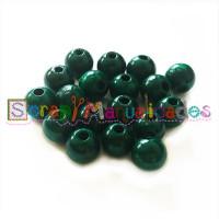 Bolita de madera antibaba 12 mm Color Verde Oscuro