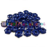 Lenteja de madera 12x5 mm antibaba ESTRELLA - Azul marino 21