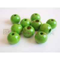 Bolita de madera de seguridad 12 mm  - Verde lima 16