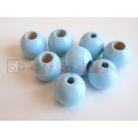 Bolita de madera de seguridad 12 mm -  Azul bebe 18