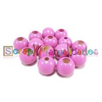 Bolita de madera de seguridad 12 mm - Rosa magenta 27