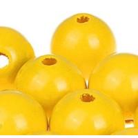 Bolita de madera antibaba 18 mm - Color Amarillo 11