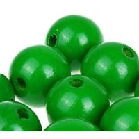 Bolita de madera antibaba 18 mm - Color Verde 17