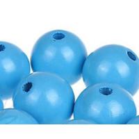 Bolita de madera antibaba 18 mm - Color Azul Celeste 19